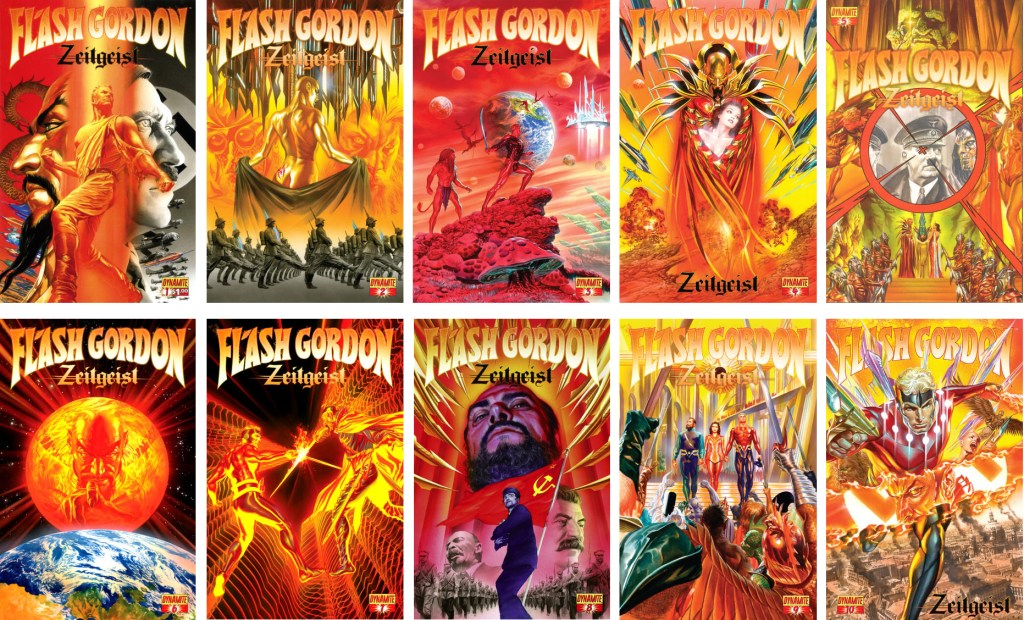 En omslagsversion av Flash Gordon: Zeitgeist (2011-13). ©Dynamite