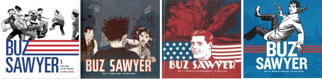 Omslag till Buz Sawyer Volume 1-4. ©Phantagraphics