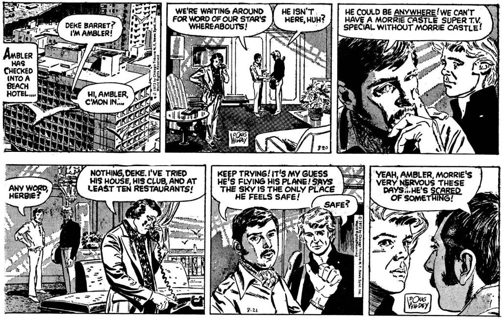 Inledande två dagsstrippar ur episoden från 20-21 augusti 1973. ©CTNYNS