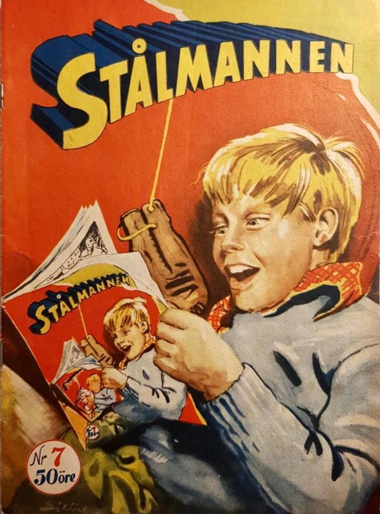 Omslag till Stålmannen nr 7, 1953. ©Centerförlaget
