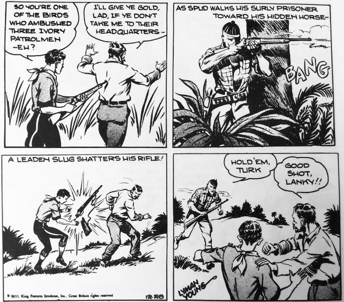 En dagsstripp från 26 december 1935. ©KFS