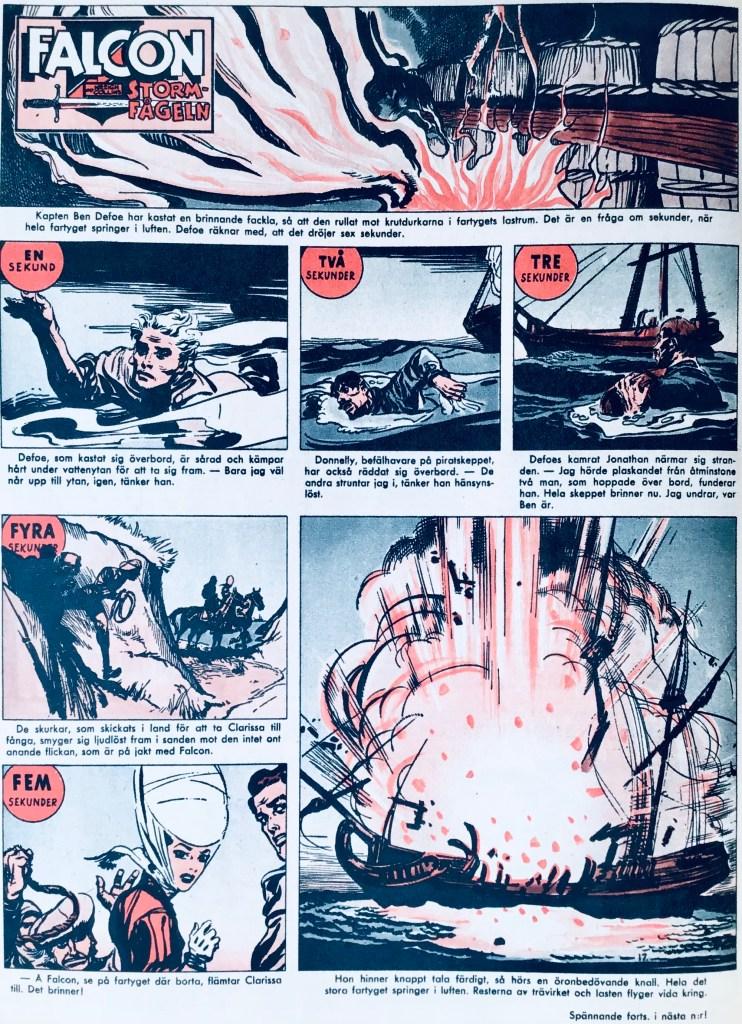 Motsvarande söndagssida ur Allas Veckotidning, nr 17, 1958. ©PIB