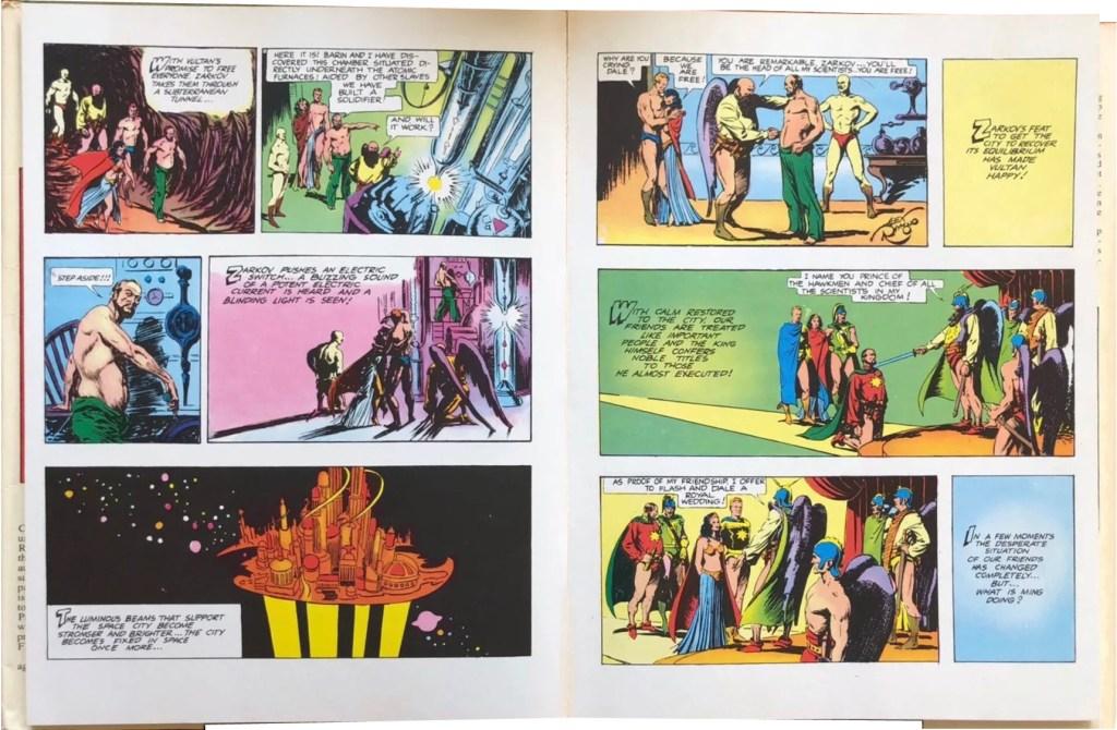 Ett uppslag ur Flash Gordon in the Planet Mongo. ©KFS