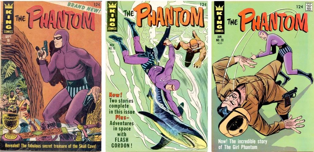 Omslag till Phantom #18-20 (1966-67) från King Comics. ©KFS