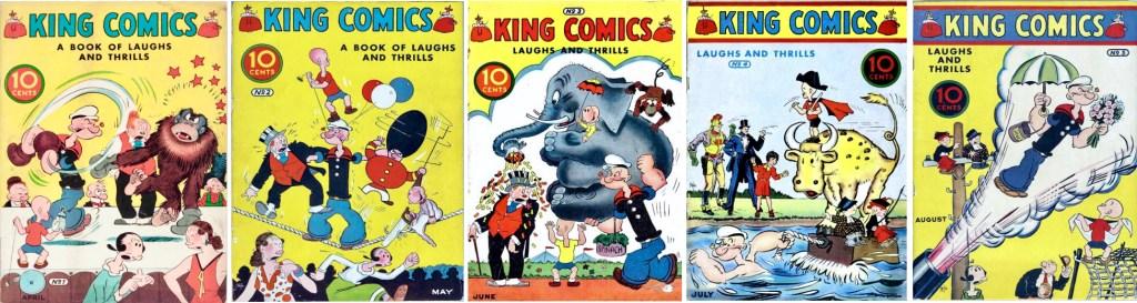 Omslag till de första fem numren av King Comics (1936). ©McKay