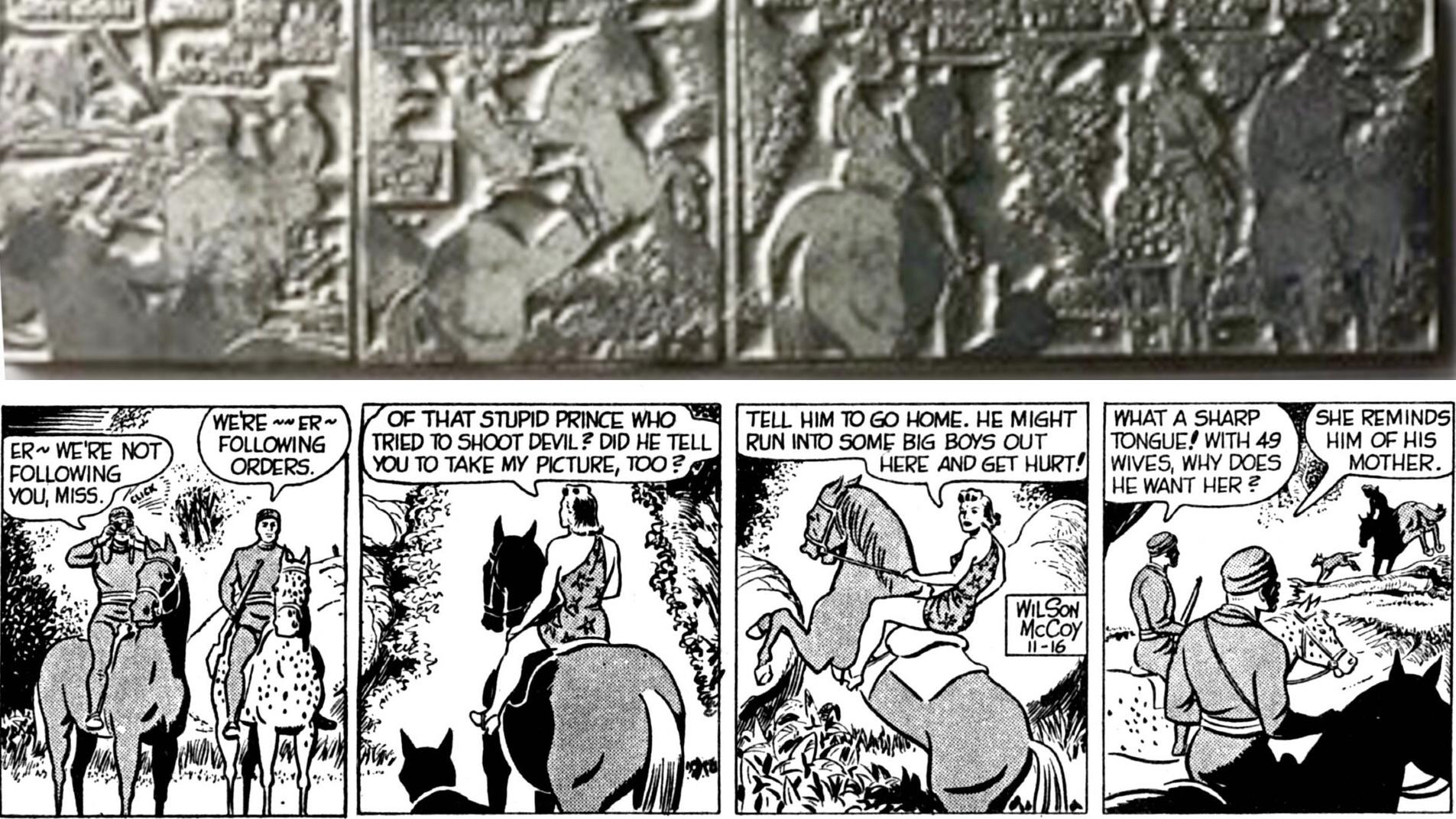 Tryckplåtar med tecknade serier
