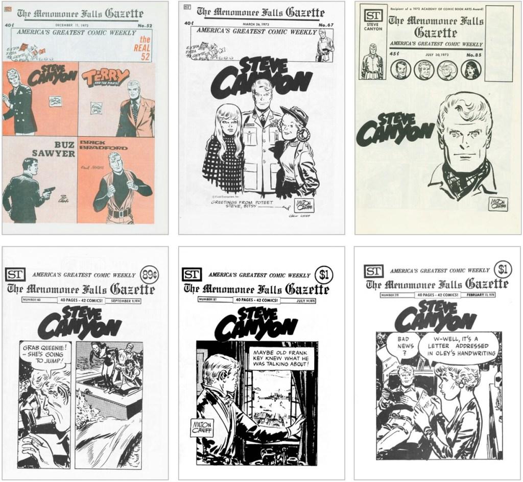 Steve Canyon fanns med på omslaget till MFG #52, #67, #85, #143, #187 och #219. ©Street Enterprises