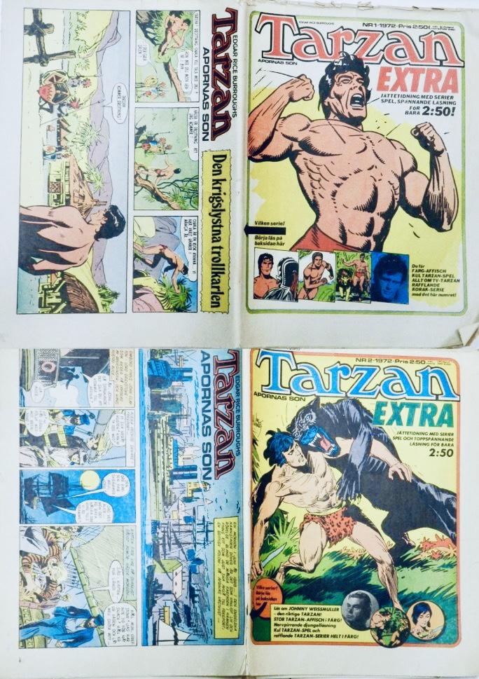 Tarzan Extra nr 1 och 2, 1972. ©Williams