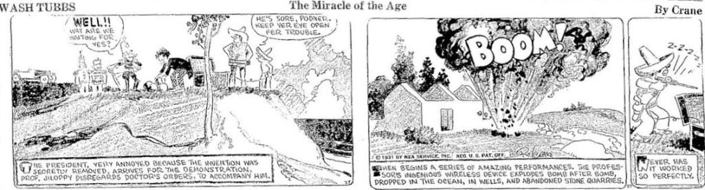 En dagsstripp från 27 januari 1931. ©NEA