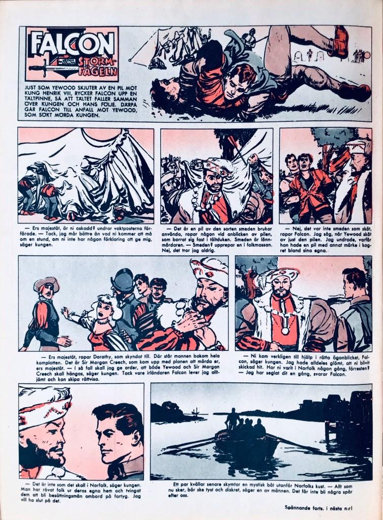 Falcon Stormfågeln ur Allas Veckotidning nr 6, 1958. ©PIB