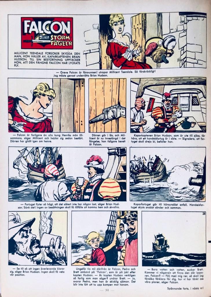 Serien i färg ur Allas Veckotidning nr 28, 1961. ©PIB