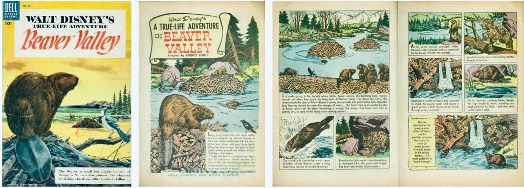 Omslag och inledande sidor ur Four Color Comic #625. ©Dell/Disney
