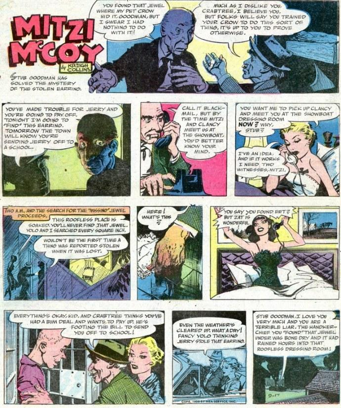 Upplösningen av episoden från 17 september 1950. ©NEA/Picture This Press