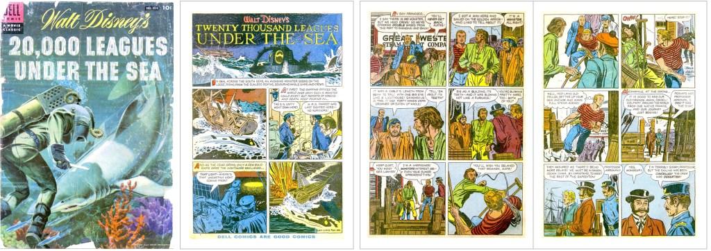 Omslag och inledande sidor ur Four Color Comic #614. ©Dell/Disney