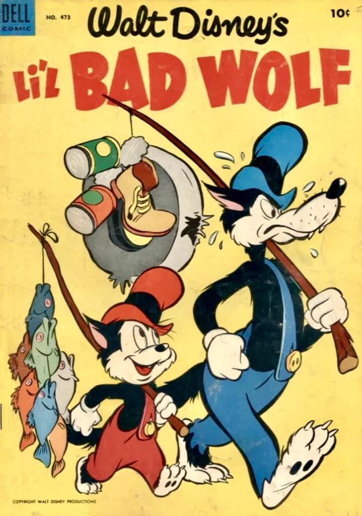 Omslag till Four Color Comic #473 (1953), Walt Disney's Li'l Bad Wolf. ©Dell/Disney