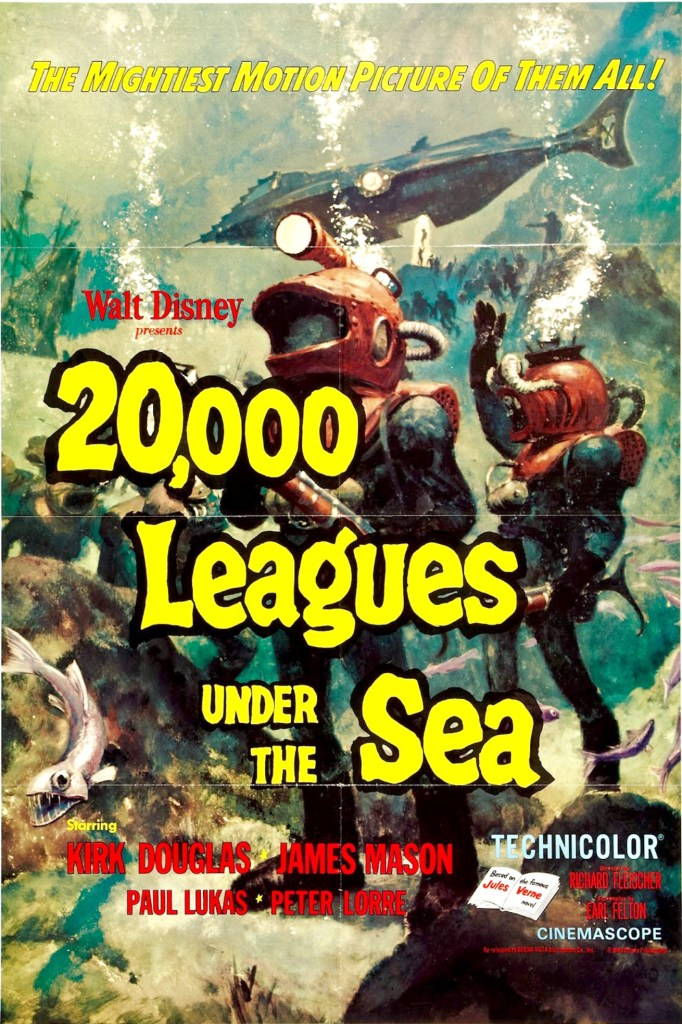 Filmaffisch från 20,000 League Under the Sea. ©Buena Vista/Disney