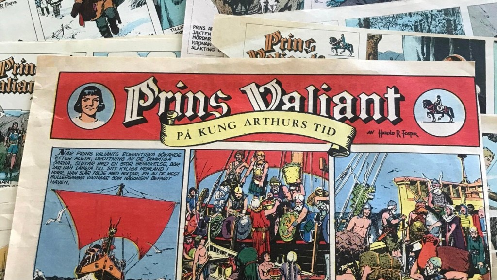 Prins Valiant gick i Saxons Veckotidning och Hemmets Journal. ©Bulls