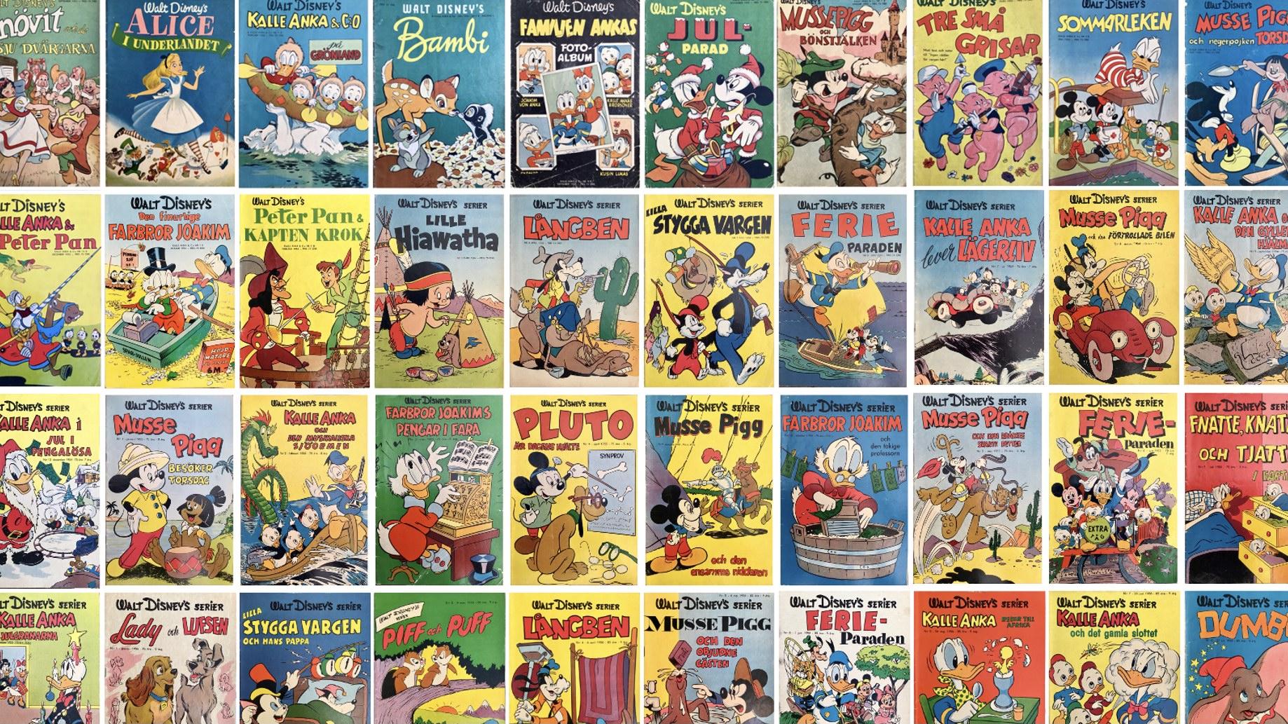 Walt Disney's serier 1950-56