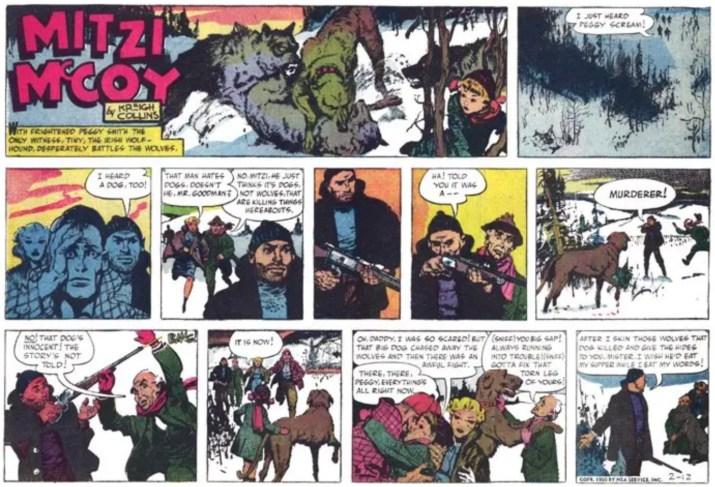 Hela söndagsstrippen från 12 februari 1950. ©NEA/Picture This Press