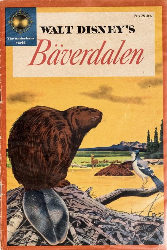 Omslag till Walt Disney's Bäverdalen. ©Richters/Disney