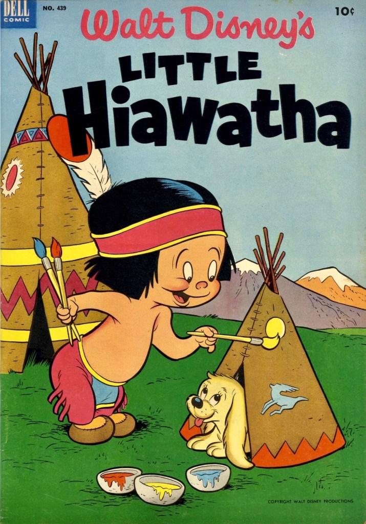 Omslag till Four Color Comic #439 (1952), Walt Disney's Little Hiawatha. ©Dell/Disney