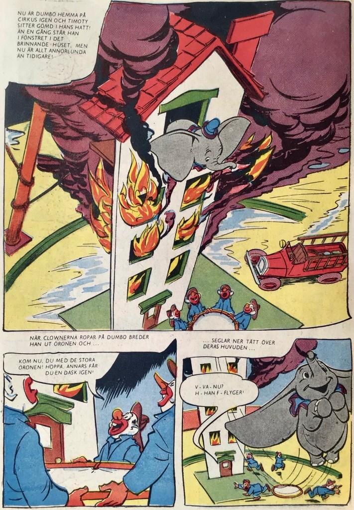 Mot slutet av Dumbo är det ingen tvekan, elefanten kan flyga. ©Disney