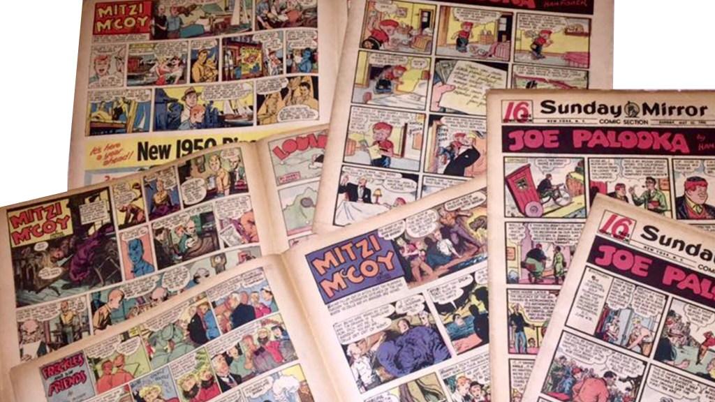Mitzi McCoy gick som serie i färg tillsammans med andra serier i dagspressens seriebilaga på söndagarna.