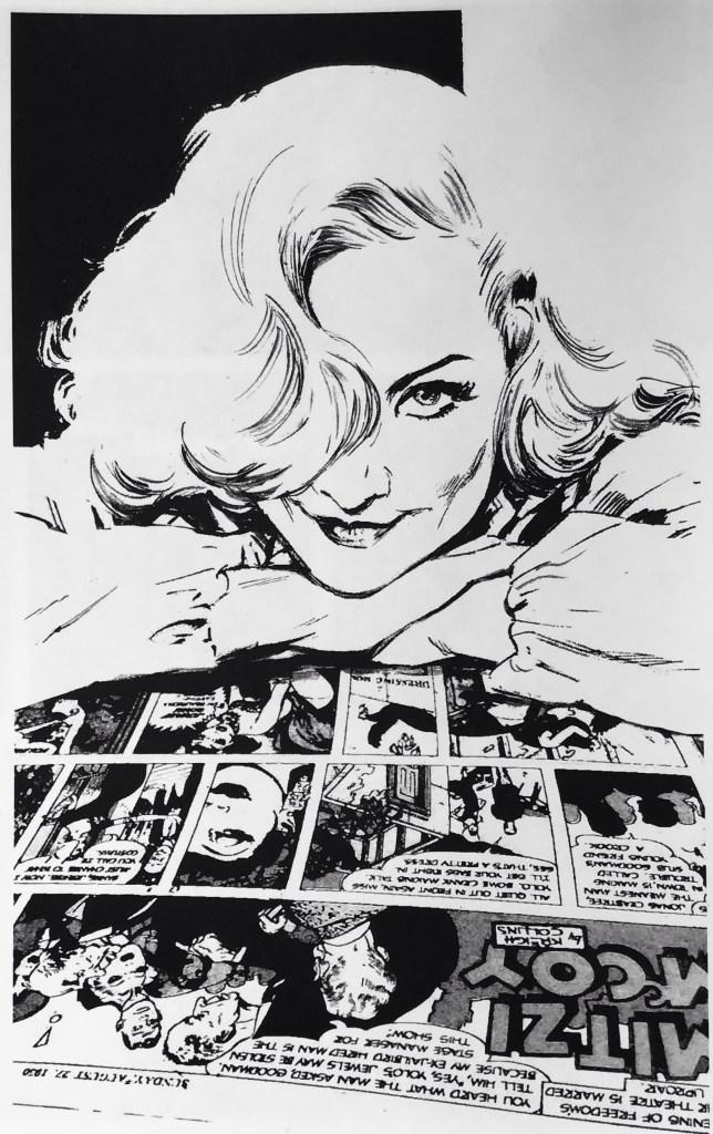En illustration av Butch Guice, som hyllning till Mitzi McCoy. ©Guice