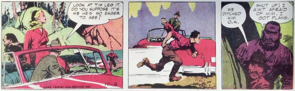 Några animerade serierutor från 9 oktober 1949. ©NEA/Picture This Press