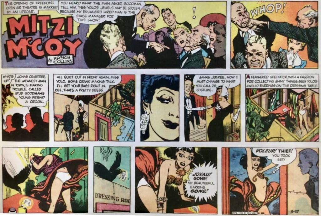 Söndagssidan från 27 augusti 1950 ingår i illustrationen ovan. ©NEA/Picture This Press