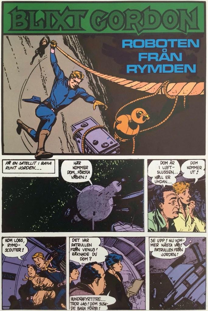 Inledande sida ur Roboten från rymden (1980). ©Bulls