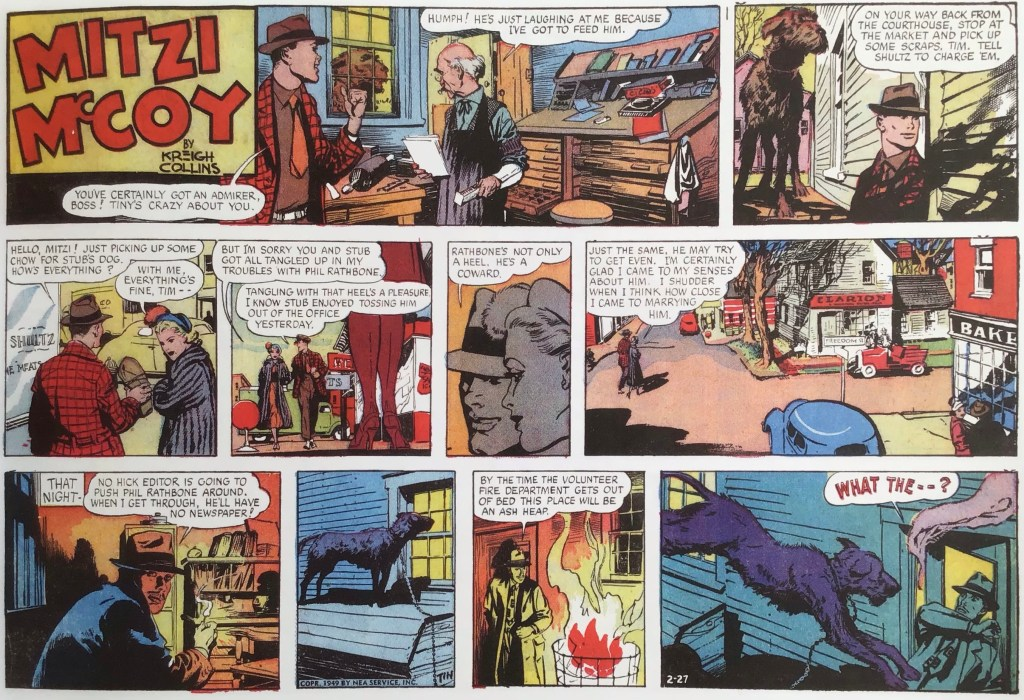Motsvarande halvsida från 27 februari 1949. ©NEA/Picture This Press