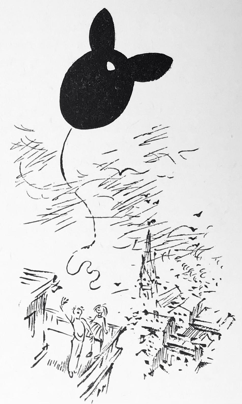 —Jodå, sa Liv. Och det ska den få också! Flyg, flyg! Så högt du vill! sa hon och släppte ballongsnöret.