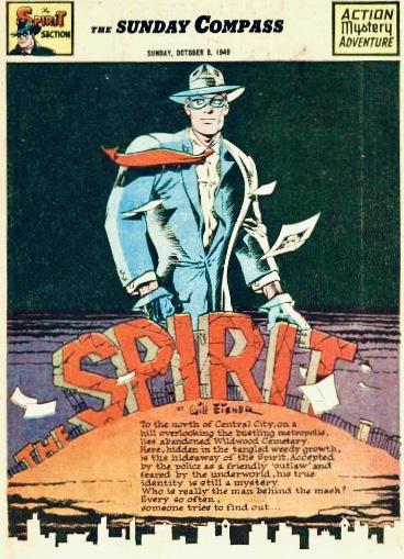 Inledande sida i original, från 9 oktober 1949. ©Register&Tribune