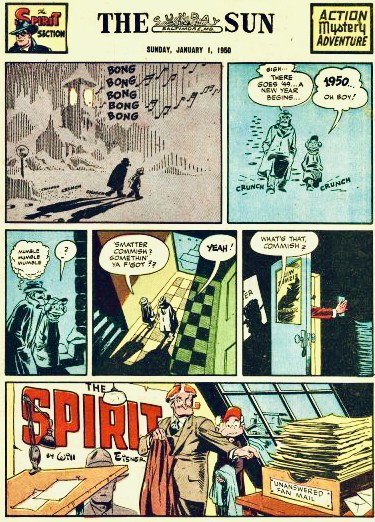Inledande sida i original, från 1 januari 1950. ©Register&Tribune