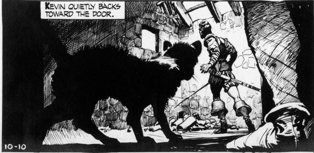 En dramatisk serieruta från 10 oktober 1954. ©NEA