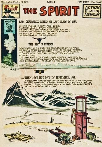 Inledande sida i original, från 10 oktober 1948. ©Register&Tribune
