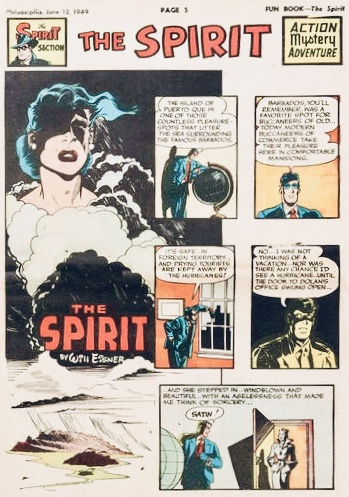 Inledande sida i original, från 12 juni 1949. ©Register&Tribune