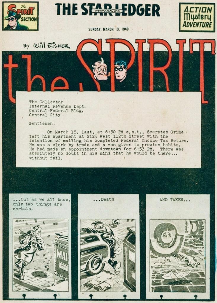 Inledande sida i original, från 13 mars 1949. ©Register&Tribune