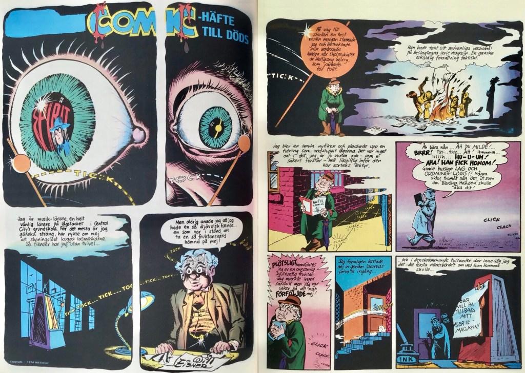 Inledande uppslag ur episoden Comics. ©Eisner