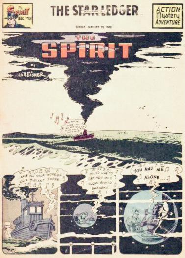 Inledande sida i original, från 30 januari 1949. ©Register&Tribune