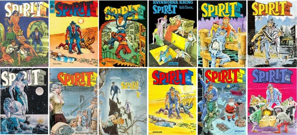 Spirit seriealbum utkom med 12 utgåvor (1976-90). ©Carlsen/Alvglans/Eisner