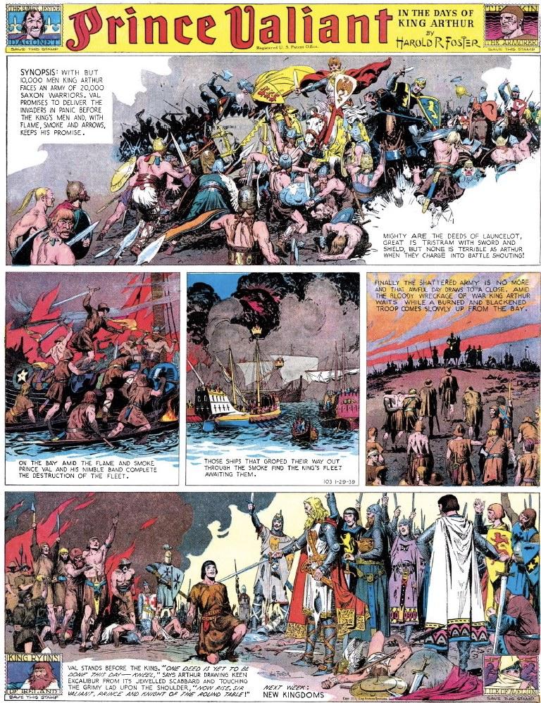 På sida #183 blir Valiant dubbad riddare. ©KFS