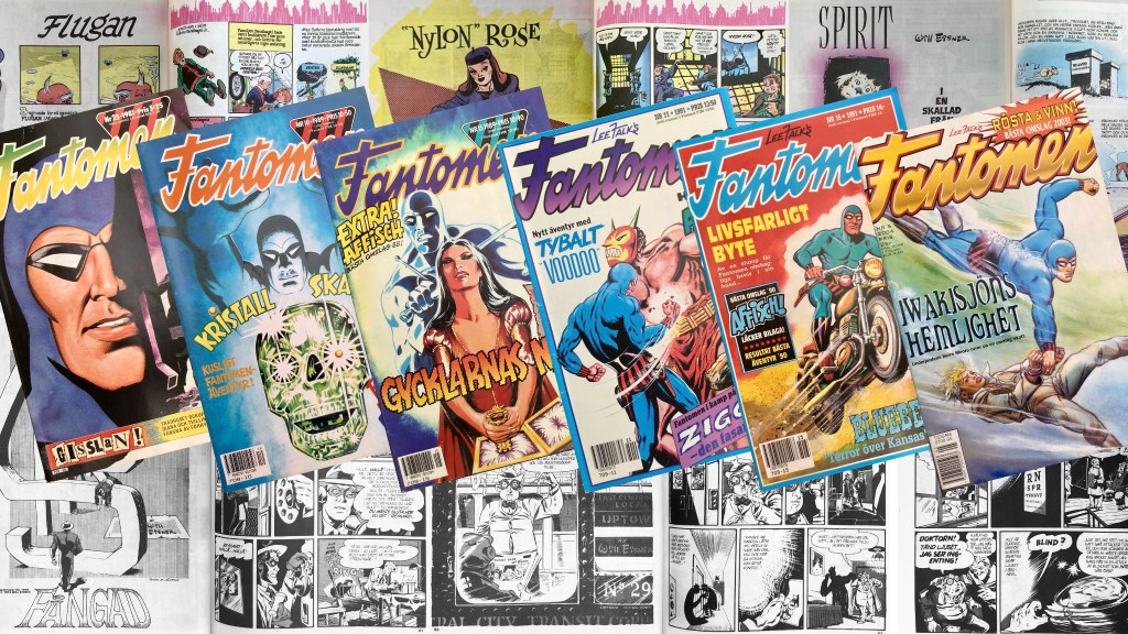 Fantomen publicerade 98 episoder med Spirit 1982-92 och 2003-04. ©Eisner/Semic/Egmont