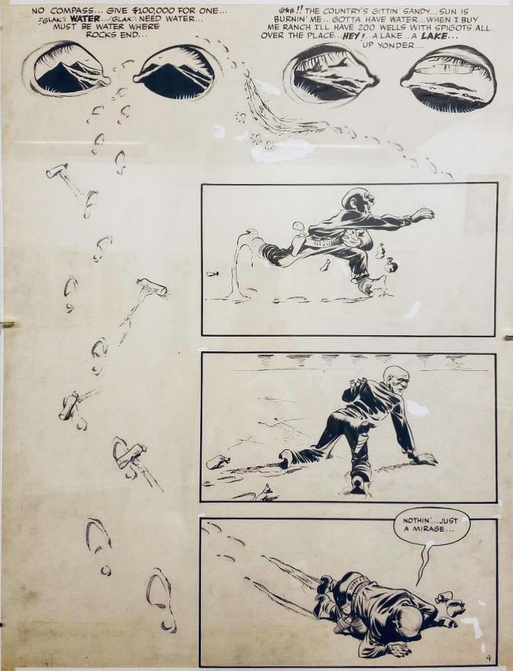 Original till sidan där ovanstående serierutor ingår. ©Eisner