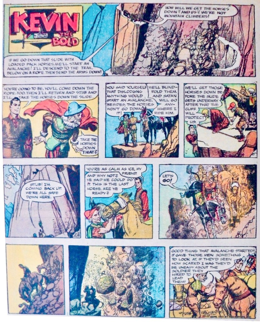 Söndagsserien i original (som helsida) från 11 november 1951*. ©NEA