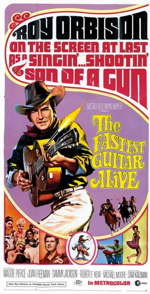 Filmaffischen till The Fastest Guitar Alive (1967). ©MGM