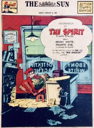 Inledande sida i original, från 6 februari 1949. ©Register&Tribune