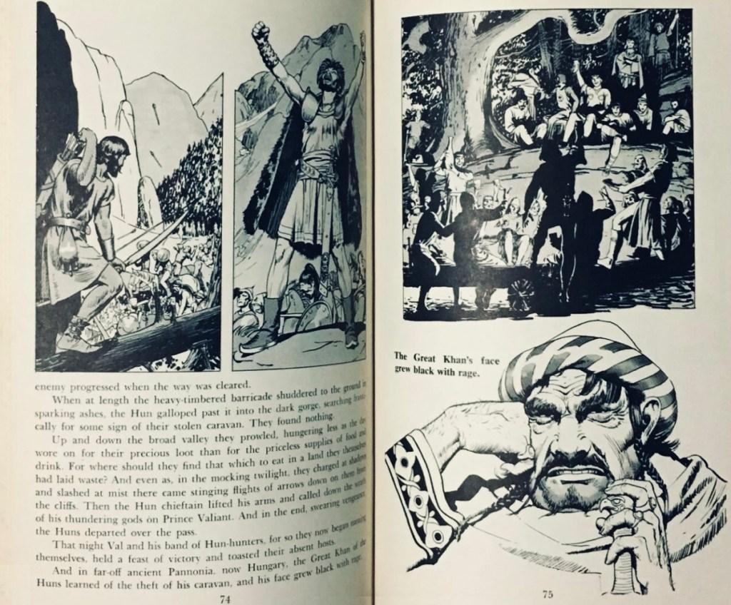 Ett uppslag ur den andra volymen. Böckerna innehöll rikligt med illustrationer av Foster. ©HH/KFS