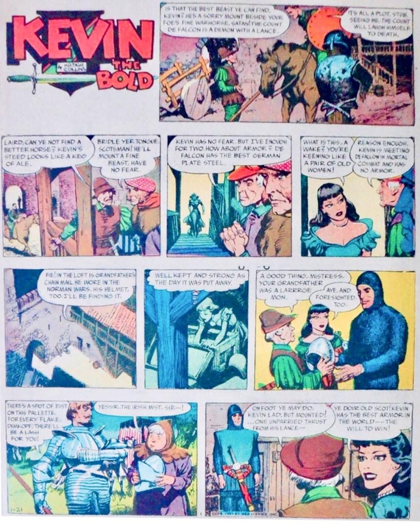 Söndagsserien i original från 21 januari 1951.* ©NEA